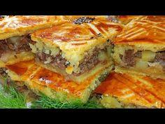 МУКА КЕФИР И КАРТОШКА!!! 😋 ОБАЛДЕННАЯ ВКУСНЯТИНА НА СТОЛЕ!!! МЯСНОЙ ПИРОГ #ЕДА - YouTube Bulgarian Recipes, Russian Recipes, Bulgarian Food, Spanakopita, Kefir, Lasagna, Quiche, Sandwiches, Recipies