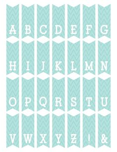 Get this weeks FREEBIE FRIDAY: Mini Alphabet Bunting in mint and pink. Now until 1/30/2015. Fonts Used: NEW DB Colorado Slab