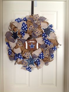 Dallas cowboys wreath...$65.00