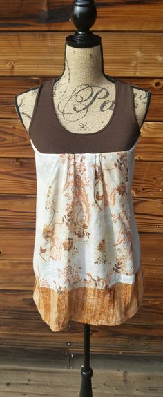 Upcycled recycled repurposed eco-friendly linen top hippie
