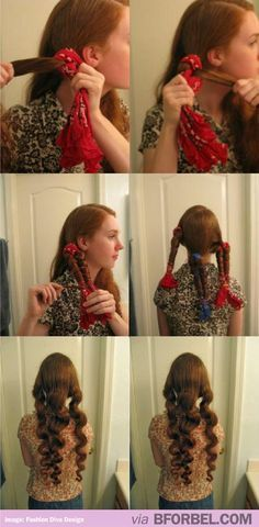 How to get no heat curls! It actually works!