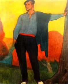 De espera para la romería, 1913 Aurelio Arteta Social Realism, Spanish Painters, Painting People, Basque Country, Cubism, Folk, Portuguese, Men, Block Prints