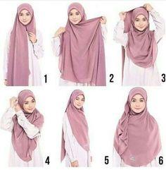 Pinned by – Hijab+ – Hijab Fashion 2020 Stylish Hijab, Casual Hijab Outfit, Hijab Chic, Hijab Dress, Square Hijab Tutorial, Hijab Style Tutorial, How To Wear Hijab, Mode Turban, Simple Hijab