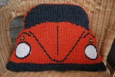 PDF Knitting Pattern for Cushion based on the VW (Volkswagen) Beetle / Bug on Etsy, $3.26