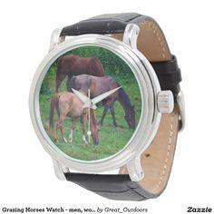 Grazing Horses Watch - men, women, and kids