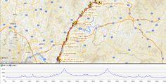 20140524 북한강울트라마라톤대회 코스도및고저도