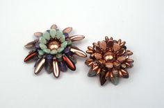 Schmuck selber machen: Blume aus böhmischen Glasperlen, als Ring, Brosch...