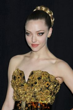 Hair Lookbook: Amanda Seyfried wearing Braided Bun (6 of 11). Amanda's thick braided bun at the 'Les Miserables' premiere was the epitome of modern romance.