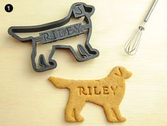 A gift guide for all-natural, grain-free dog treats, raised pet feeders, modern dog bowls, stylish food mats and treat jars, and custom cookie cutters.