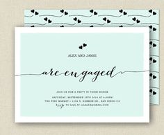 Modern Engagement Party Invitation - Printable or Printed - MODERN HEARTS collection on Etsy, $22.87 AUD