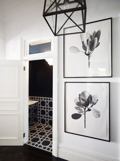 i love these photographs and the black and white bathroom