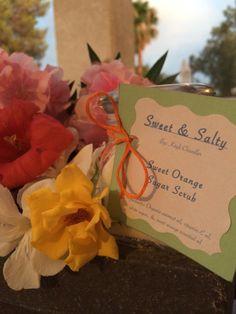 SweetSaltyScrubs: Homemade Sweet Orange Sugar Scrub (: