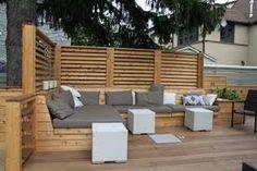 Montreal Outdoor Living – Urban Backyard Patio & Terrace in Hampstead Deck Bench Seating, Garden Seating, Outdoor Seating, Outdoor Spaces, Outdoor Living, Outdoor Decor, Patio Bench, Banquette Seating, Pergola Patio