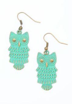 Mint Owl Earrings ♥