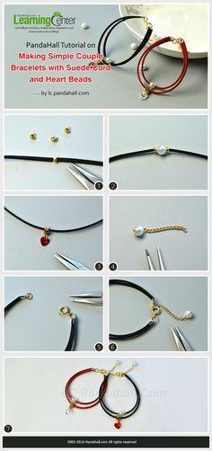30+ Idées de bracelet en cordon suède avec tuto Couple Bracelets 8f024f58e084f