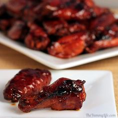 Honey Teriyaki Hot Wings. An easy, finger-lickin' crowd pleaser. www.theyummylife.com/honey_teriyaki_hot_wings