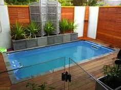 Pool ideas for small spaces to Turn the Backyard into a Relaxing Retreat. tags: backyard ideas, swimming pool design, backyard pool ideas on budget, small backyard pool, backyard pool lanscaping. Swimming Pool Architecture, Building A Swimming Pool, Small Swimming Pools, Swimming Pools Backyard, Swimming Pool Designs, Pool Landscaping, Landscaping Design, Backyard Pool Designs, Small Backyard Gardens