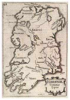 Medieval map of Ireland, showing Irish tribes. Irish origin myths confirmed by modern scientific evidence