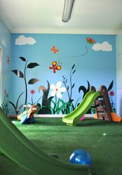 Houzz interiors indoor playroom -astro turf floor