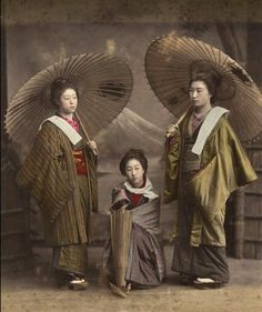 About 1890, Japan.  Hand-colored photo.  Photographer unknown.  Image via cardcollector on Flickr