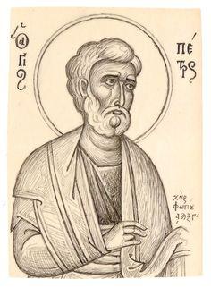 Orthodox Icons, Religious Art, Byzantine, Line Drawing, Ikon, Pencil Drawings, Christianity, Templates, Cartoons