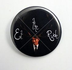 Eat the Rude or Fannibal  HANNIBAL Pinback  by BayleafButtons #hannibal #buttons #etsy