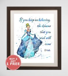 Hey, I found this really awesome Etsy listing at https://www.etsy.com/listing/397917343/cinderella-quote-print-disney-watercolor