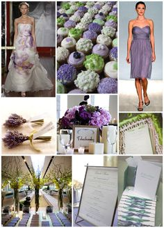 I love the wedding colors of Lilac And Sage with Black And White
