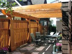 Don't forget about adding privacy to the area above your deck. A pergola provides shade and shields views from second-story windows in nearby houses.