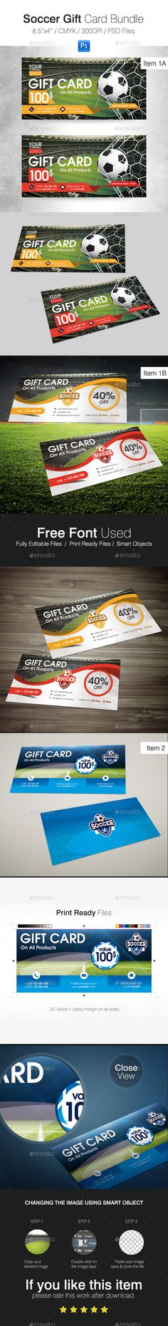 Soccer Gift Card Bundle - Cards & Invites Print Templates Download: https://graphicriver.net/item/soccer-gift-card-bundle/20004963