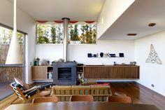 living room joinery storage fireplace Modern House: Kerridge House   Apartment by Virginia Kerridge Architect