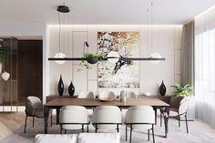 Simply charming modern dining room design ideas - ALL ABOUT Luxury Dining Room, Dining Room Design, Dining Room Furniture, Dining Room Inspiration, Dinner Room, Dining Room Lighting, Home Decor, Modern Dining Room, Room Interior
