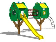 Toboggan / Parcours suspendu en pin TREE CASTLE 8 Collection Trees by Legnolandia