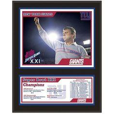 """New York Giants Fanatics Authentic 12"""" x 15"""" Super Bowl XXI Sublimated Plaque"""