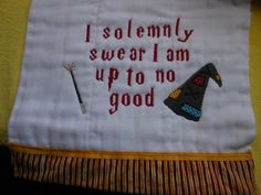 Harry Potter themed machine embroidered by GrandmasCreationsEtc, $10.00