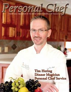 Personal Chef | Western PA chef on cover of Personal Chef Magazine | Westmoreland ...