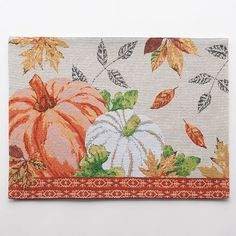 Harvest Pumpkin and Leaf Placemat