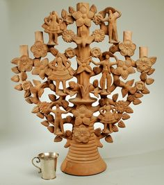 Large Antique Mexican Tree of Life Candelabra - Soteno Family, Mexico, 1960's  From: http://morganlevine.tumblr.com