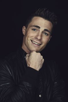 ARROW star Colton Haynes strikes a pose while visiting the Warner Bros. Television Photo Studio at WBTV's Comic-Con cocktail media mixer at the Hard Rock Hotel's FLOAT Rooftop Bar on Friday, July 25. #WBSDCC