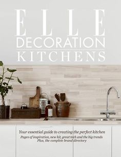 Decorating ideas, expert advice and the latest gadgets – all in ELLE Decoration Kitchens, free with our April issue! #home #sweethome #bathroom #decor #design