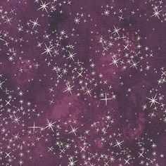 McKenna Ryan Sugar Plum Fabric Twinkle in Plum Silver Fabric Crafts, Sewing Crafts, Magic In The Moonlight, Raw Edge Applique, Applique Quilt Patterns, Collage Techniques, Windham Fabrics, Twinkle Star, Robert Kaufman