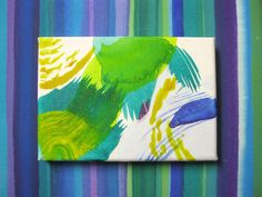 The Match two paintings on canvas blue stripes by PippiLeePresents