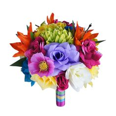"9"" Bouquet - Colorful Wedding Bouquet"