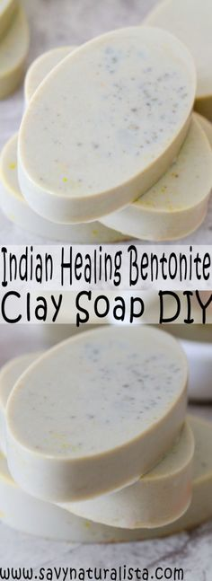 This easy Indian Healing Bentonite Clay Soap only requires four ingredients. It's an all-natural tutorial that is perfect to give your skin an easy glow! Beauty Care, Diy Beauty, Beauty Hacks, Beauty Soap, Beauty Ideas, Argile Bentonite, Indian Healing Clay, Soap Making Supplies, Homemade Soap Recipes