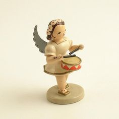 Vintage and unique. Wooden Figurines, Wooden Ornaments, Wood Angel, Christmas Angels, Xmas, Postcard Design, Hello Dolly, Vintage Holiday, Vintage Wood
