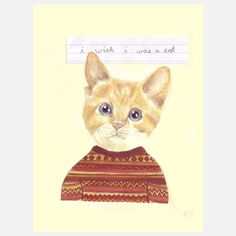 Fab.com | I wish I was a cat