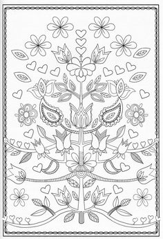 Fun jacobean floral embroidery patterns ideas From 32 Jacobean Floral Embroidery Patterns Jacobean Embroidery, Floral Embroidery Patterns, Embroidery Hoop Art, Embroidery Designs, Pattern Coloring Pages, Coloring Book Pages, Scandinavian Folk Art, Mandala Coloring, Zentangle Patterns