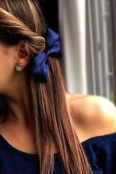Channel your inner girly side with a simple hair bow.