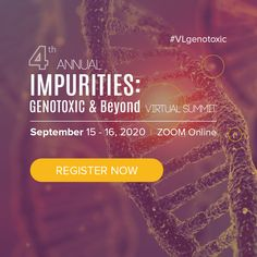 This premier B2B summitwill shed lighton the compliant implementation practice of ICH M7 and Q3D and novel strategies for efficient mutagenic and elemental impurities identification and control.  It is anhonorand privilege to invite you to participate inour virtualSummit. Don't missout on thisopportunity to discuss ideas with your peers. Request the brochure. Boehringer Ingelheim, Zoom Online, Medicinal Chemistry, Technology Transfer, Mass Spectrometry, Drug Discovery, Associate Professor, Research And Development, Life Science