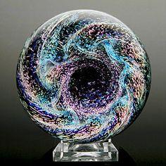"Kevin O'Grady - Giant Vortex Marble - 2.8"" $310 - Light Opera Gallery"